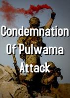 Condemnation Of Pulwama Attack